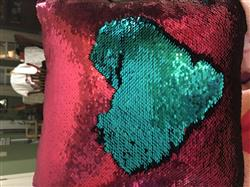 Sarah S. verified customer review of Determined Mermaid Pillow w/ Burgundy & Teal Reversible Sequins - - Designed by Sarah (Age 7)