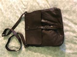 Campomaggi C1527 Italian Leather Shoulder Bag, Dark Brown