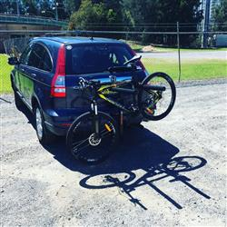 Kevin S. verified customer review of Jetblack Jetrack Double Folding Hitch Mounted Bike Rack - 4 Bike - Fits 32mm or 50mm
