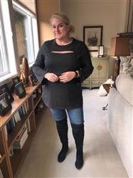 Susie K. verified customer review of Burgundy Peek-a-boo Tunic