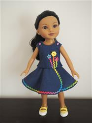 Linda L verified customer review of Lollipop Garden Dress 14-14.5 Doll Clothes Pattern