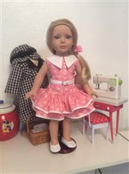 Jaci verified customer review of 1930's Ruffled Play Dress 18 Doll Clothes Pattern