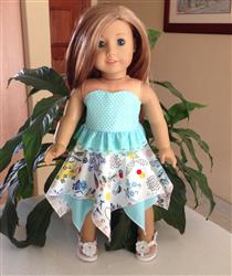 Anne-Marie S. verified customer review of Handkerchief Skirt 18 Doll Clothes