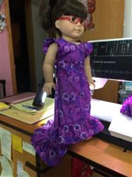 Carolyn T. verified customer review of Aloha Holoku Dress 18 Doll Clothes Pattern