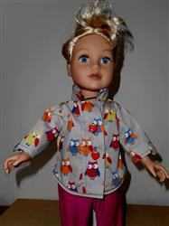 Button Up Shirt Bundle for Girls and Boys 18 Doll Clothes Pattern