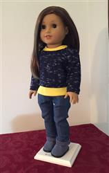Pullover Sweater 18 Doll Clothes Pattern