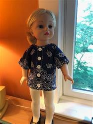 Gloria P Rohmann verified customer review of Bandana Blouse 18 Doll Clothes Pattern