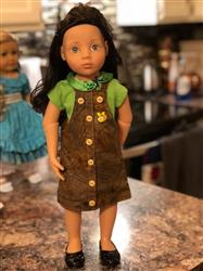 "Debra S. verified customer review of Faux Button Front Jumper for 18"" Journey Girls and 19"" Gotz Dolls"