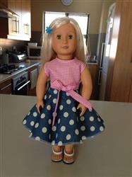 Anne-Marie S. verified customer review of Retro Wrap Top 18 Doll Clothes
