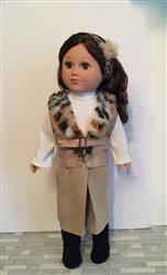 Bolero Vest & Gaucho Skirt 18 Doll Clothes