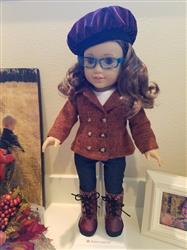 Tam Cap & Ruffled Scarf 18 Doll Clothes