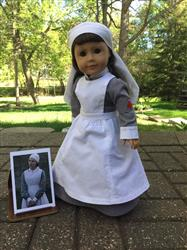 Barb Walster verified customer review of Edith  WW1 VAD Nurse Uniform 18 Doll Clothes Pattern