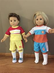 Soccer Uniform 18 Doll Clothes