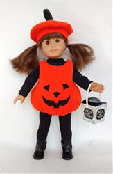 Lil' Pumpkin Costume 15 and 18 Doll Clothes Pattern