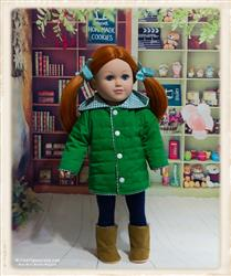 Quilted Parka Bundle 18 Doll Clothes Pattern