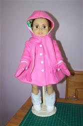 Hooded Scarf & Mittens 18 Doll Accessories