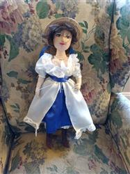 Chemise a la Reine and Soft Crown Bergère Hat 18 Doll Clothes