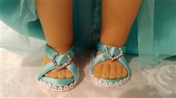 Carol Johns verified customer review of Diamond Sandals 18 Doll Shoes