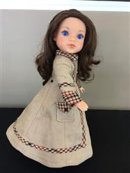Long Winter Coat and Hood 14.5 Doll Clothes Pattern