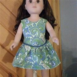 Mackenzie Dress 18 Doll Clothes Pattern