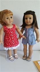 "Surfrider Sundress and Romper 18"" Doll Clothes Pattern"