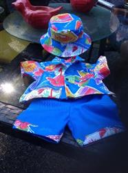 Alana - Hawaiian-Style Shirt, Shorts and Hat 15 Doll Clothes