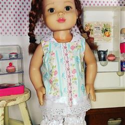 Summer Camp Collection: Mock Button-Front Shirt 18 Doll Clothes