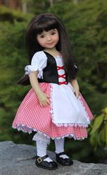 Tutu Cute Story Book Dress-up Costume Dress for WellieWishers Dolls