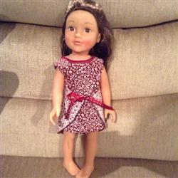 Wraptastic! Reversible Dress 18 Doll Clothes