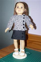 Joy S verified customer review of Right on the Button Shirt & Skirt Set 18 Doll Clothes Pattern