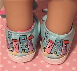 Bow Tie Slip-Ons for WellieWishers Dolls