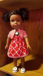 Picnic Sundress & Show My Bow Jacket 14.5 Doll Clothes Pattern