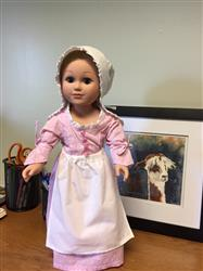 Betsy Ross Shop Apron & Cap 18 Doll Accessories