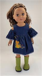 Peek-A-Boo Dress 18 Doll Clothes Pattern