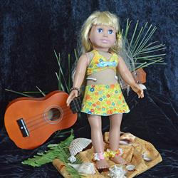 Aloha Vintage Swimsuit and Hula Accessories Bundle 18 Doll Clothes Pattern