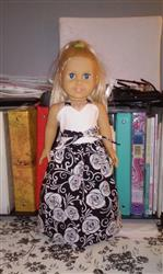 Wrap & Tie Halter Dress and Top 18 Doll Clothes Pattern