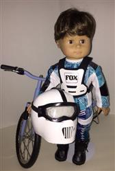 Motocross Helmet and Goggles 18 Doll Accessory Pattern
