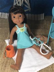 Debra A Henricks verified customer review of Sofie's Just For Wovens Swimsuit & Coverup 14.5 Doll Clothes Pattern