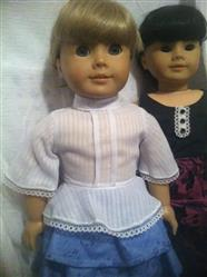 Arabella 1970s Style Blouse or Dress 18 Doll Clothes Pattern