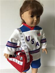 Game Time Athletic Bag 14-18 Doll Accessory Pattern