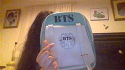 Adriana M. verified customer review of BTS Bangtan Boys Leather Backpack