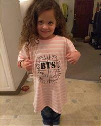 Megan G. verified customer review of BTS Bangtan Boys Stripe T-shirt