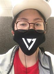 Jasmime S. verified customer review of SEVENTEEN Logo Mouth Mask