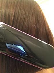 Kaylin verified customer review of Electric Hair Straightening Brush