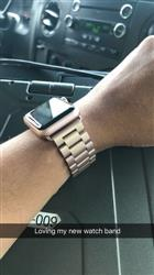 yanetzy r. verified customer review of Stainless Steel Band with Clasp for Apple Watch - Rose Gold