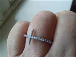 Cross Ring (Includes 27 Diamonds or White Sapphires)