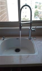 Pull Out Spring Kitchen Faucet in Chrome or Brushed Nickel