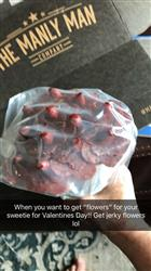 Anonymous verified customer review of Valentines Day Pre-order of Beef Jerky Flower Bouquet
