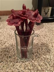 Taylor S. verified customer review of Beef Jerky Flower Bouquet & Beer Mug