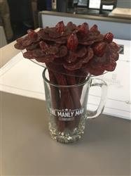 Caitlin W. verified customer review of Beef Jerky Flower Bouquet & Beer Mug